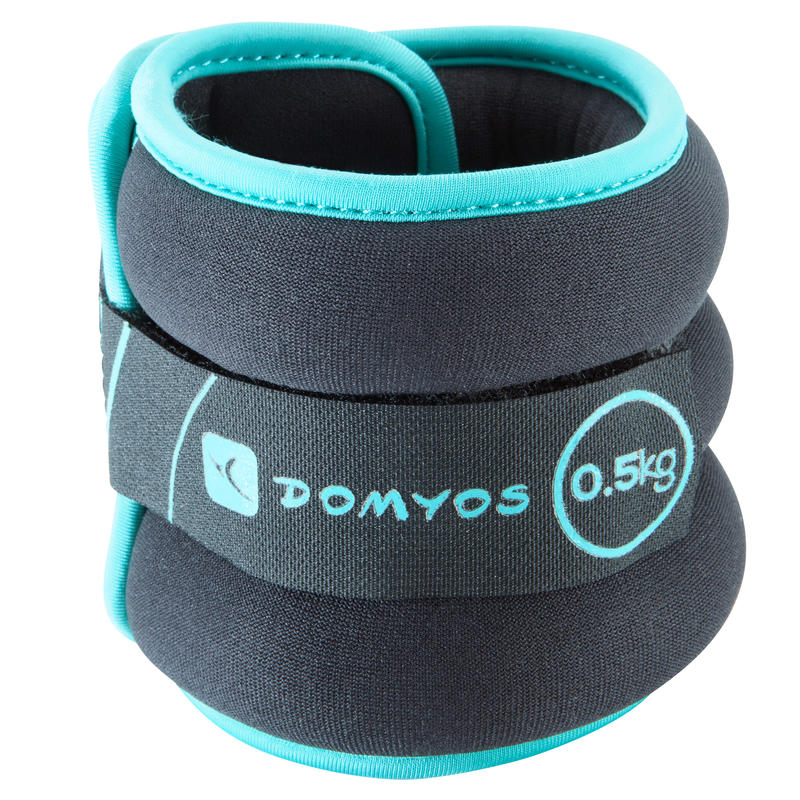 Pilates Toning Adjustable Wrist and Ankle Weights Twin-Pack 0.5 kg