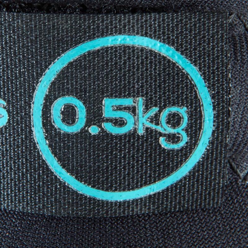 ดัมบ์เบลถ่วงข้อมือและข้อเท้าแบบปรับขนาดได้สำหรับกระชับกล้ามเนื้อแพ็คคู่รุ่น SoftBell ขนาด 0.5 กก.