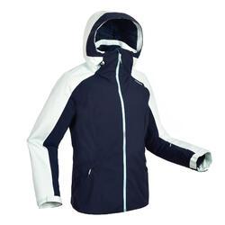 女款下坡滑雪外套JKT 500綠色