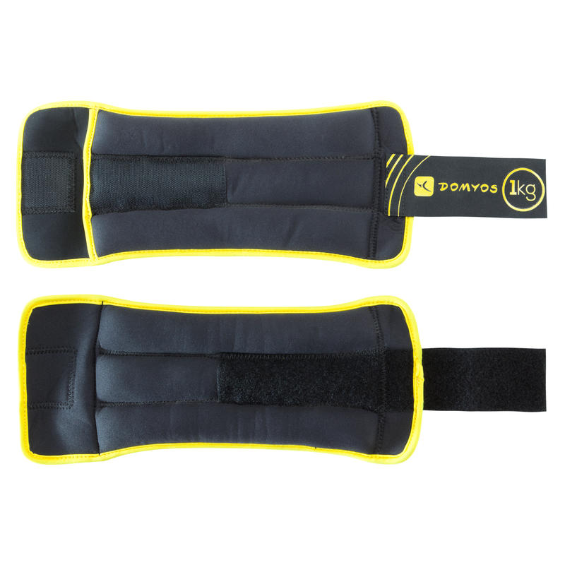 Fitness 1 kg Soft Dumbbells Twin-Pack - Yellow