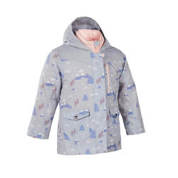Kids' 2-6 Years Hiking Waterproof and Lightweight 3-in-1 Jacket SH100 X-Warm