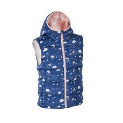 兒童款超保暖鋪棉背心MH500 KG-藍色