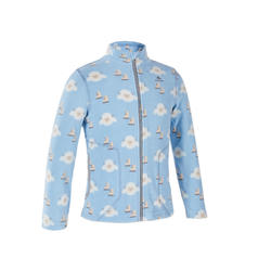 GIRLS' CN FLEECE MH150 KID - LIGHT BLUE