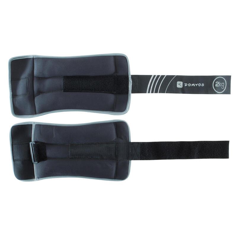 สนับถ่วงข้อมือและข้อเท้าแบบปรับขนาดได้สำหรับกระชับกล้ามเนื้อแพ็คคู่รุ่น SoftBell ขนาด 2 กก.