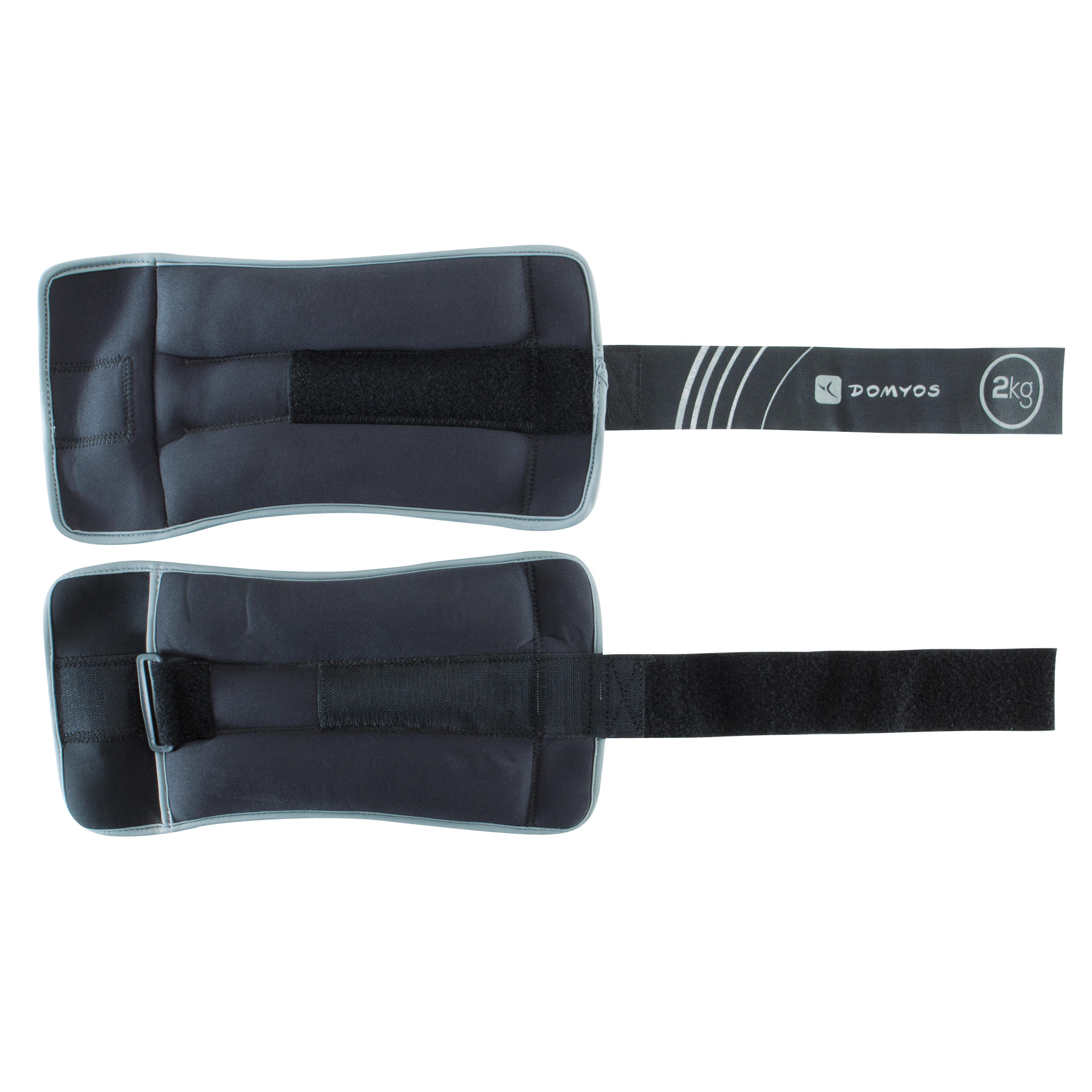 Pilates Toning Adjustable Wrist and Ankle Weights Twin-Pack 2 kg