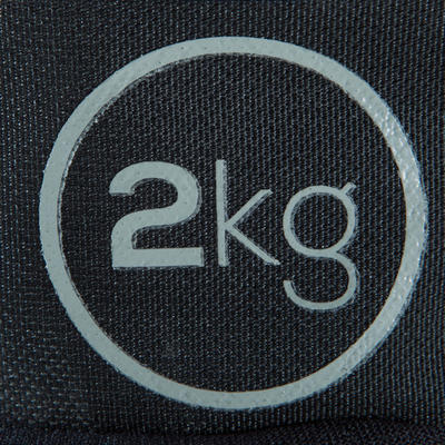 Fitness 2 kg Soft Dumbbells Twin-Pack - Grey