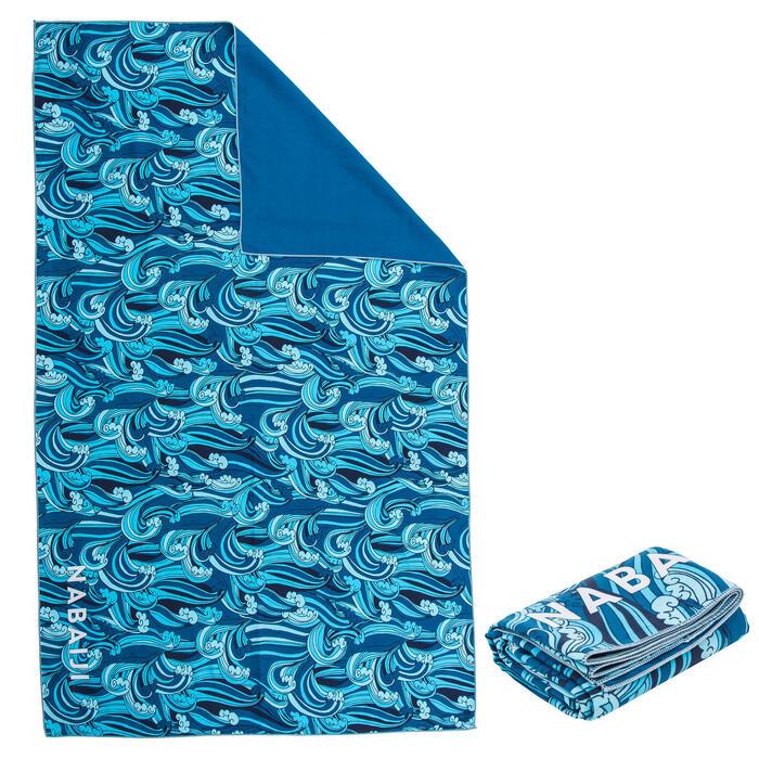 Serviette de bain microfibre imprimé taille XL 110 x 175 cm