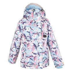 女童青少年單/雙板滑雪外套SNB JKT 500 - 灰色