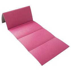 Opvouwbare fitnessmat roze 160 cm x 60 cm x 7 mm