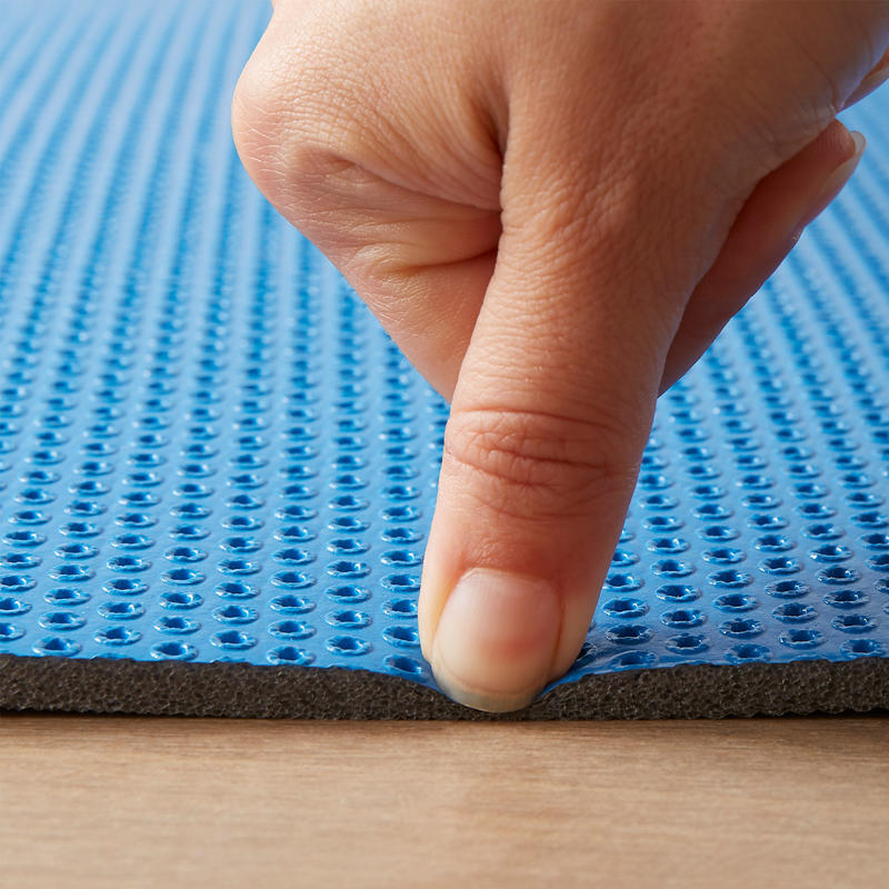 500 Pilates & Toning Shoe - Resistant and Folding Floor Mat Size M 8 MM - Blue