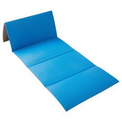 Opvouwbare fitnessmat blauw 160 cm x 60 cm x 7 mm