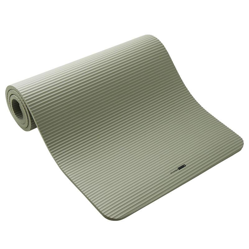 Fitnessmat Comfort kaki 180 cm x 63 cm x 15 mm