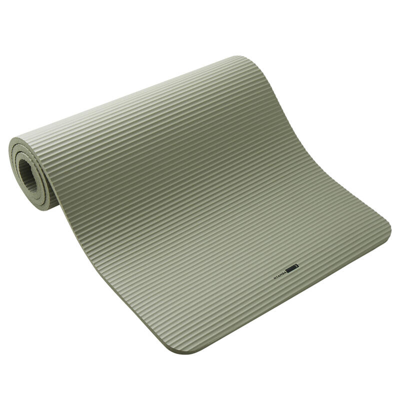 Tappetino pilates 500 COMFORT M 180cmx63cmx15mm verde militare