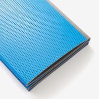 Fitness 160 x 60 x 0.7 cm Folding Floor Mat - Blue