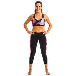 女款水中健身緊身褲Vib黑色