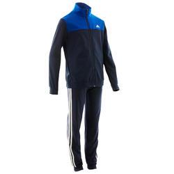 Trainingspak voor jongens marineblauw met adidas-logo op de borst