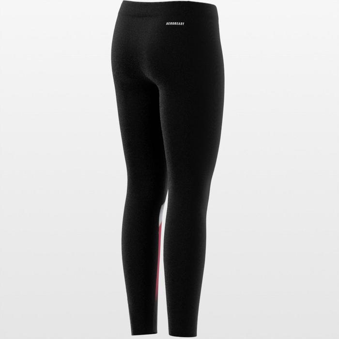 Legging voor meisjes zwart met print en Adidas-logo