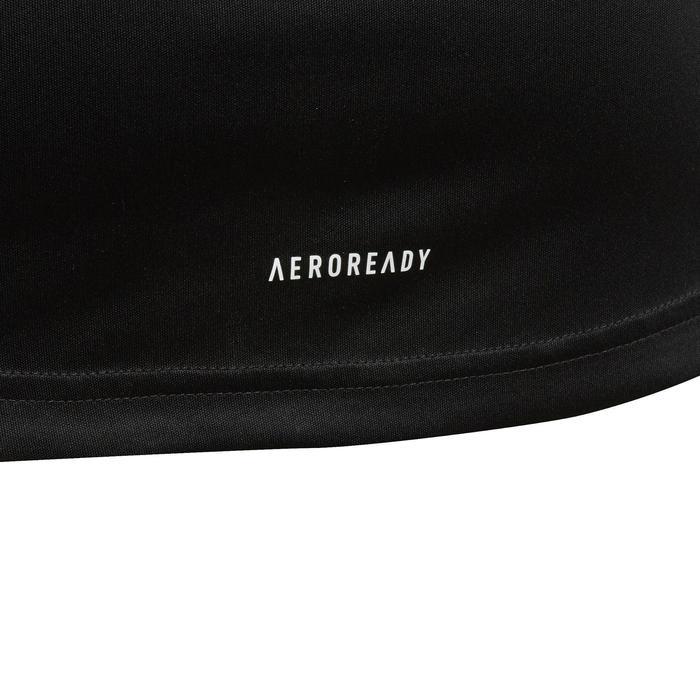 T-shirt fille adidas noir avec logo contrasté blanc sur la poitrine