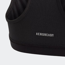 Meisjestopje zwart met grafische print en adidas-logo