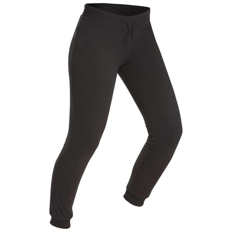 WOMEN MERINOS WOOL TSHIRT UNDERWEAR MT - Forclaz 50 Women's Fleece Trousers - Black