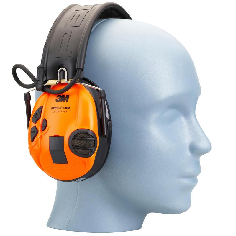 Casque de protection auditive actif Peltor SportTac orange vert