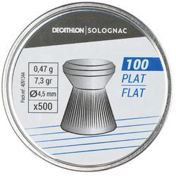 Luchtdrukkogeltjes plat 4,5 mm 500 stuks