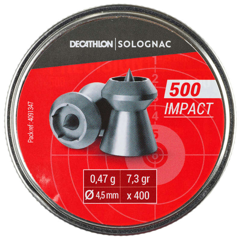 śrut / tarcze pneumatyczne Strzelectwo sportowe - Śrut IMPACT 4,5mm x 400q SOLOGNAC - Strzelectwo sportowe