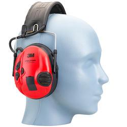 Actieve gehoorbescherming Peltor Sporttac zwart rood