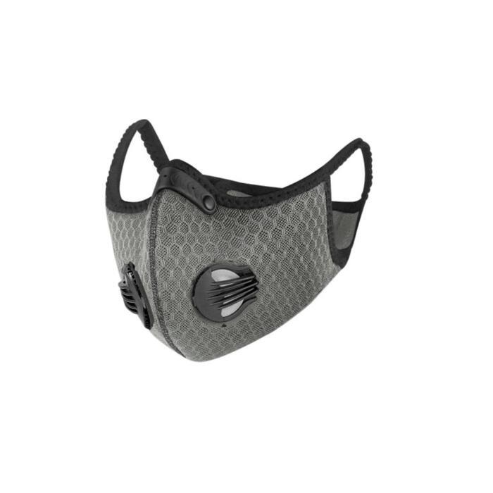 Sportmaskers tegen COVID-19 BREEZY grijs