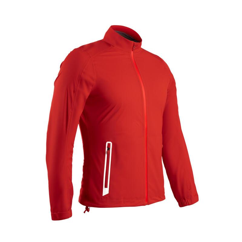 Men's golf waterproof rain jacket RW500 red