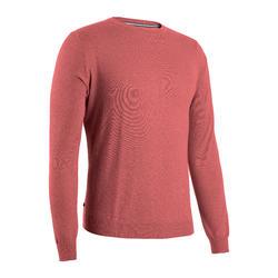 男款高爾夫立領針織衫-深粉色