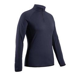 Camisola Polar de Golf Inverno CW500 Mulher Azul marinho