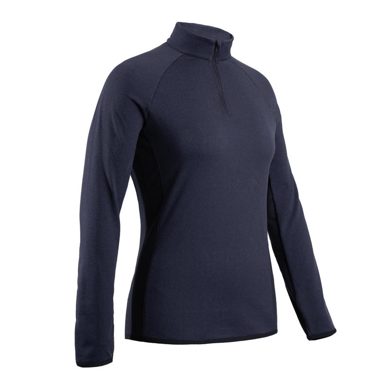 Pull polaire de golf hiver femme CW500 bleu marine