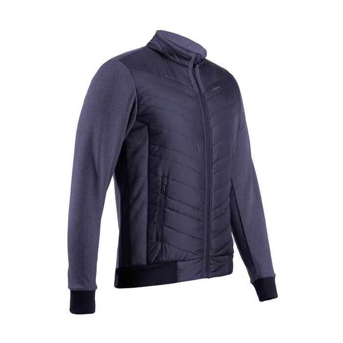 Gewatteerde golfjas voor heren koud weer marineblauw
