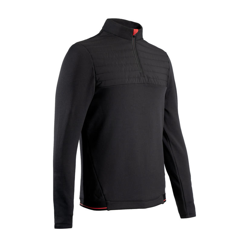 Fleece golftrui voor heren CW500 zwart