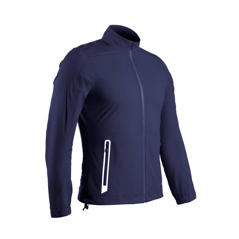 PÁNSKÉ GOLFOVÉ OBLEČENÍ DO DEŠTIVÉHO POČASÍ Golf - GOLFOVÁ BUNDA MODRÁ INESIS - Golfové oblečení