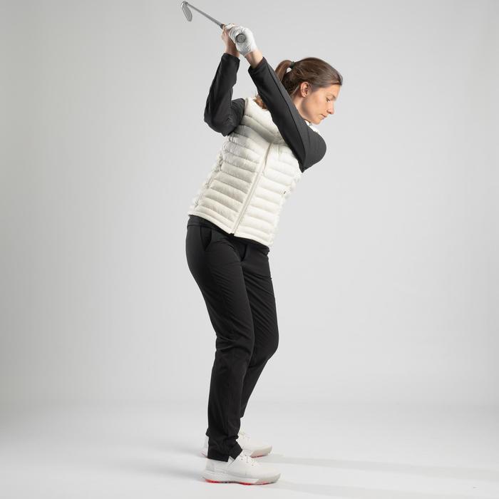Golf Steppweste warm CW500 Damen cremeweiss