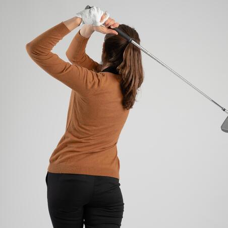 Women's Golf Pullover - Brown