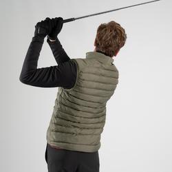 Golf Steppweste warm Herren khaki