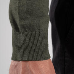 Men's Golf V-Neck Pullover - Khaki