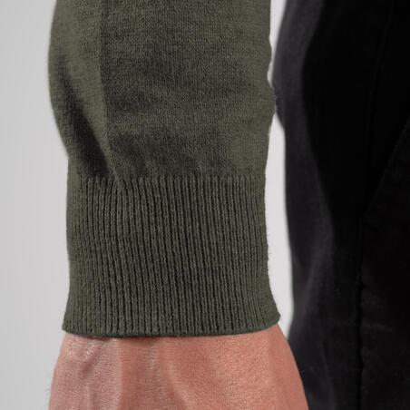 Men's golf V-neck pullover MW500 khaki