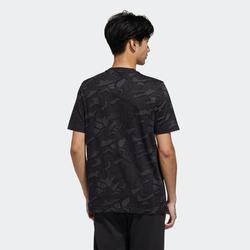 T-Shirt Adidas Regular Homme Noir avec Motif