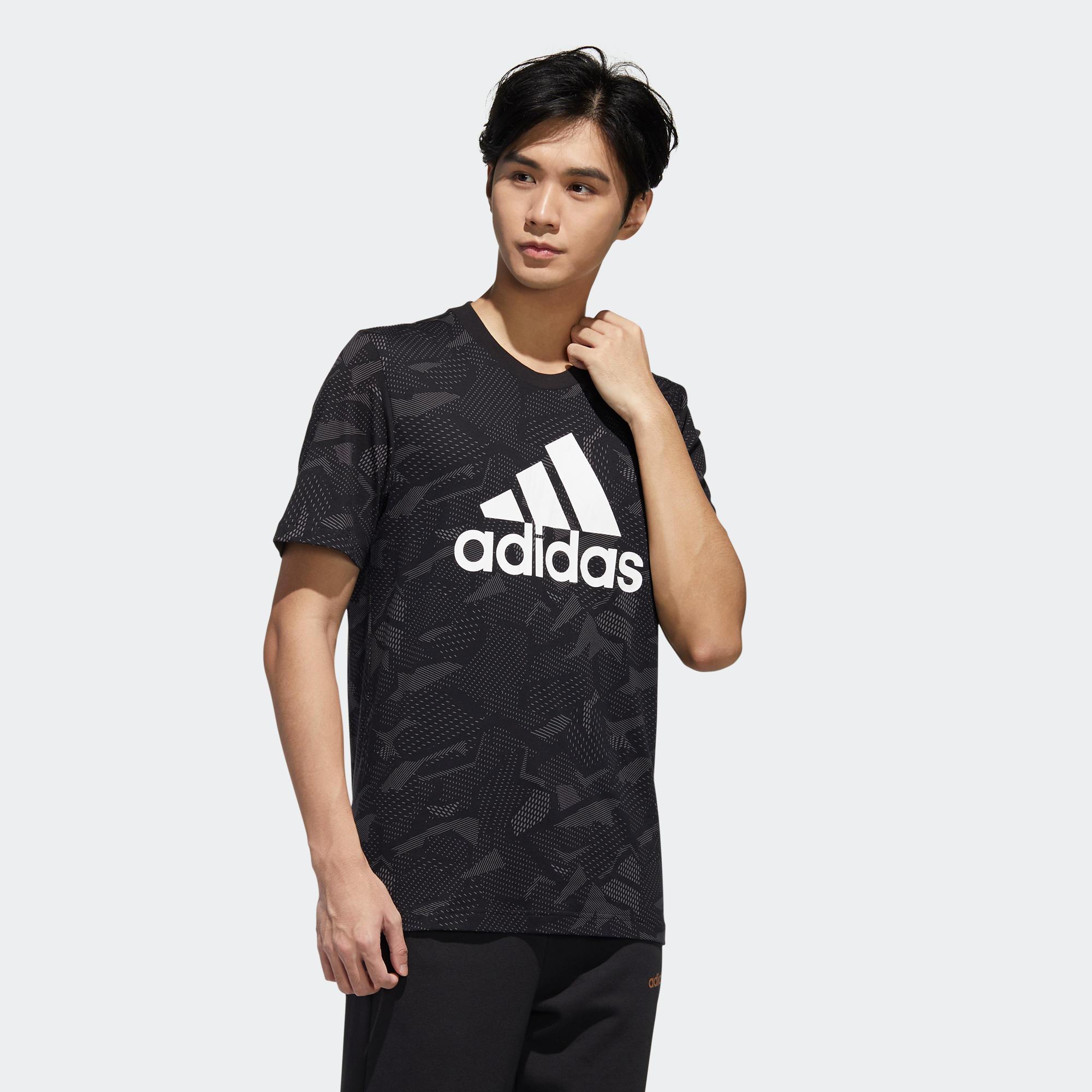 Más que nada Banquete saldar  Camiseta manga corta Adidas hombre regular negro blanco ADIDAS | Decathlon