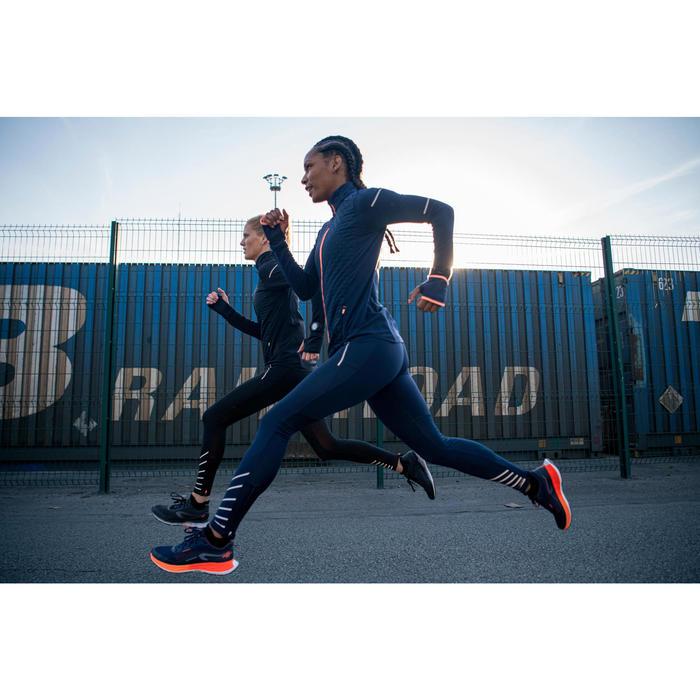女款跑步緊身褲KIPRUN WARM軍藍色