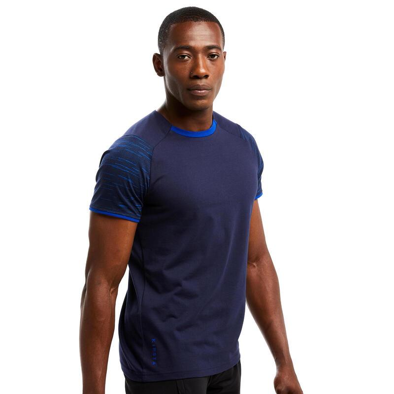 Fotbalové tričko T100 tmavě modré