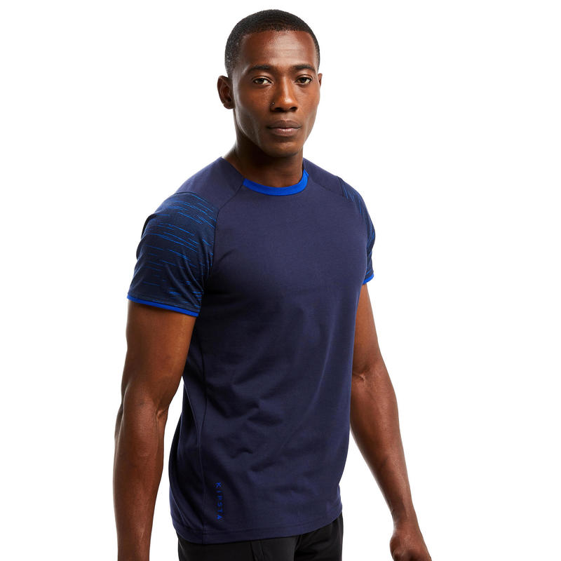 Voetbal T-shirt T100 team donkerblauw