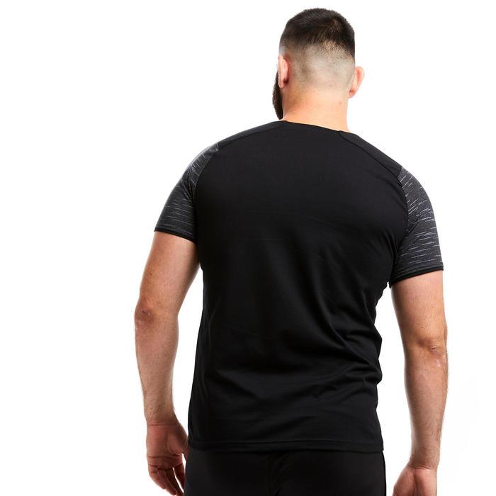 T-shirt de futebol T100 Equipa Preto