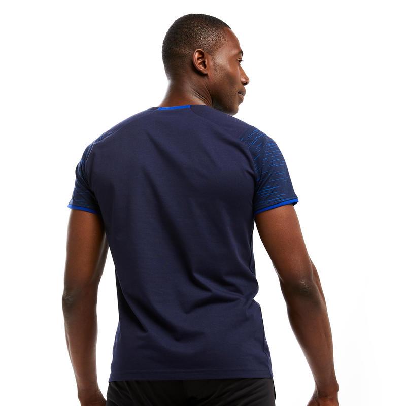T-shirt de football T100 équipe bleu foncé