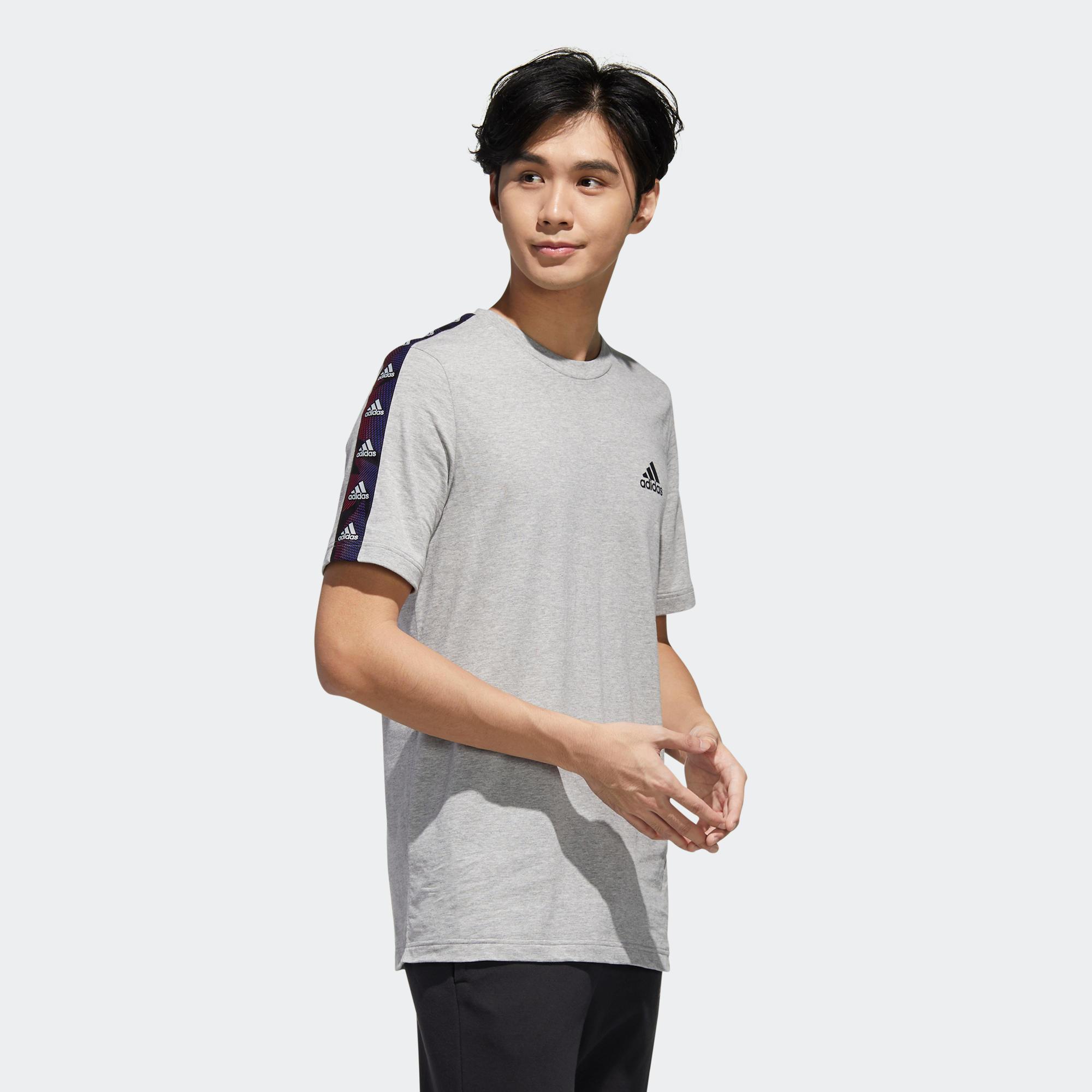 Tricou Adidas gri bărbați imagine
