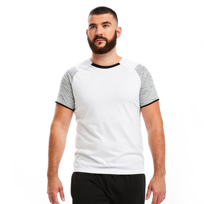 Voetbal T-shirt T100 team wit